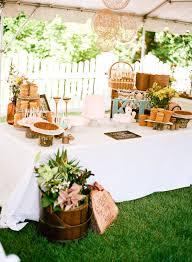 Outdoor Wedding Dessert Table I Love The Mini Wood Stumps To Put On
