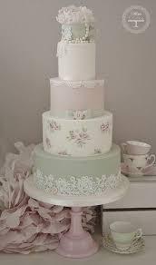Pastel Tea Cup Lace Wedding Cake