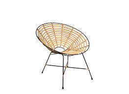 chaises en osier chaise ronde en rotin kubu