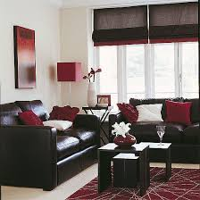 Dark Brown Sofa Living Room Ideas by Sleek Living Room Red Accents Living Rooms And Chocolate