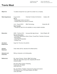 Blank Resume Sample With Format Download In Ms Word Best