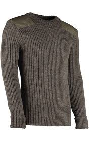 wooly pully nato crew neck sweater