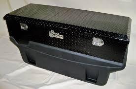 100 Diamond Plate Truck Box Large Locking Black Aluminum Toolbox 9991160