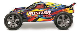 Traxxas 37076-4-RNRS: Rustler VXL 2WD Brushless Stadium Truck 1/10 ...