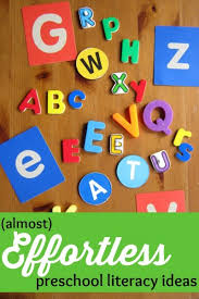 Preschool Literacy Ideas For Parents That Take Very Little Preparation Easy To Do At Home