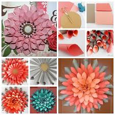 VIEW IN GALLERY Paper Dahlia Wreath F Pretty DIY Wall Art Made Easy