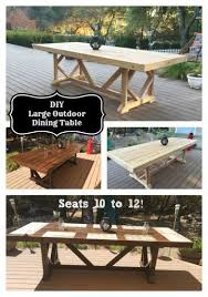Diy Plans Garden Table by Best 20 Diy Outdoor Table Ideas On Pinterest Outdoor Wood Table