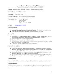 Cover Letter 45 Pharmacy Technician Letters Inside For isolution
