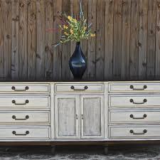 Antique White Dresser Vintage Rustic Wood Furniture Buffet TV Stand Storage