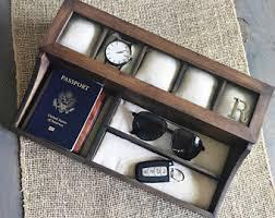 Dresser Valet Watch Box by Mens Valet Box Etsy