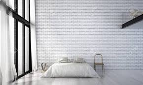 das loft schlafzimmer design und die weiße mauer