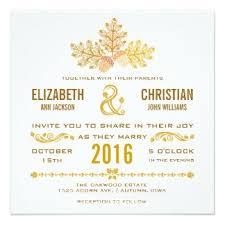 Autumn Acorns And Oak Leaves Wedding Invitation Fallwedding