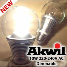 new akwil dimmable 10w 860lm sharp led true fit frosted high lumen