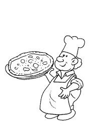 Printable Pizza Chef Coloring Pages