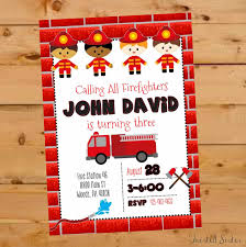 Fireman Invite, Firefighter Birthday Invite, Fire Station Birthday ... Fire Truck Firefighter Birthday Party Invitation Cards Invitations Firetruck Themed With Free Printables How To Nest Book Theme Birthday Invitation Printable Party Invite Truck And Dalataian 25 Incredible Pattern In Excess Of Free Printable Image Collections 48ct Flaming Diecut Foldover By Creative Nico Lala