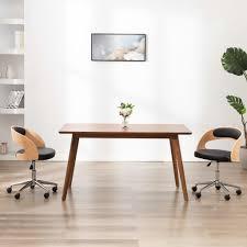 esszimmerstuhl drehbar schwarz bugholz und kunstleder