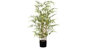 bambus grüner kunststoff schwarzer topf höhe ca 100 cm