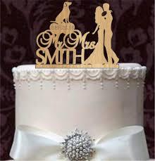 Rustic Wedding Cake Topper Personalized Funny Silhouette Custom And Labrador Retriever