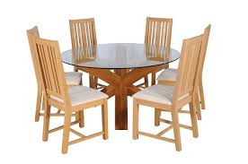 An Oak And Glass Spyder Dining Table Six Chairs By Heal Son