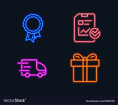 100 Truck Report Checklist Truck Delivery And Success Icons Vector Image