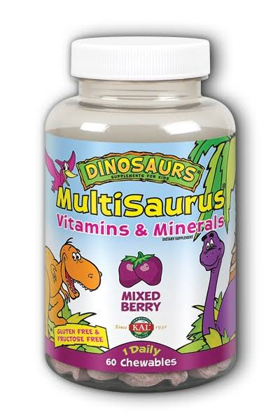 Kal Multi Saurus Vitamins and Minerals - Mixed Berry, 60ct