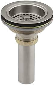 kohler sink strainer brushed nickel kohler k 8801 bn duostrainer sink strainer vibrant brushed nickel