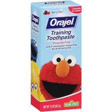 Walmart Elmo Adventure Potty Chair by Orajel Fluoride Free Sesame Street Training Toothpaste Berry Fun
