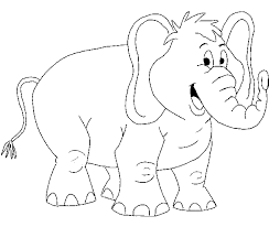Neoteric Design Inspiration Printable Elephant Coloring Pages African Page Animals Town Animal Color