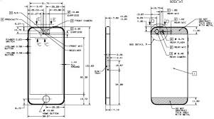 iPhone 5 fully dimensioned design drawing available for all to see