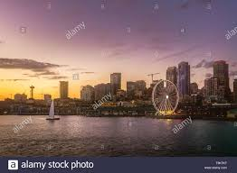 100 Beautiful Seattle Pictures Waterfront Skyline From Elliott Bay At Dusk