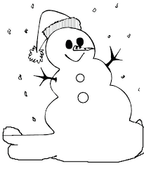 Winter Coloring Sheets For Kids Easy Snowman Pages Christmas Presents
