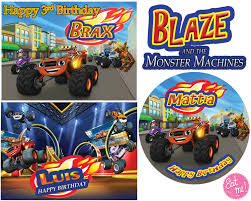 Blaze And The Monster Machines Customised Edible Real Icing Birthday ... 80 Off Sale Monster Jam Straw Tags Instant Download Printable Amazoncom 36 Pack Toy Trucks Pull Back And Push Friction Jam Sticker Sheets 4 Birthdayexpresscom 3d Dinner Plates 25 Images Of Template For Cupcake Toppers Monsters Infovianet Personalised Blaze And The Monster Machines 75 6 X 2 Round Truck Edible Cake Topper Frosting 14 Sheet Pieces Birthday Party Criolla Brithday Wedding Printables Inofations For Your Design Pin The Tire On Party Game Instant