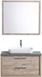 badezimmer badmöbel indiana 90 cm nature wood unterschrank schrank waschbecken spiegel