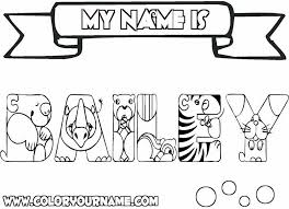 Coloring Pages Of Your Name