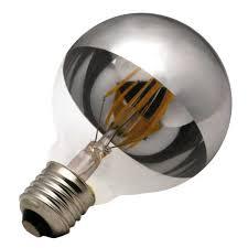 dimmable g95 half mirror filament led light bulb led filament