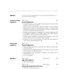 Electrical Apprentice Resume No Experience Sample Resumes For Electricians Electrician Apprenticeship Lineman Examples