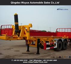 China 20FT 2 Axles Flatbed Container Tipper Trailer Truck - China ...