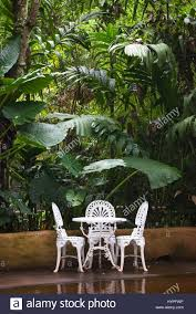 Brazil, Iguazu, White Iron Chairs And Garden Table In Front Of The ... Urban Lifestyle Fniture And Decor Jardin De Ville Set Of Two Foldable Colourful Bistro Chairs Fast Forest Outdoor White Side Chair Site Furnishings Sets Best Outdoor 12 Affordable Patio Ding To Buy Now Marcius Single Seat Velvet Accent Dark Green Faux Rattan Lounge Set In Forest Green Ideal For A Discover Haworths Janus Et Cie Brand Table Veranda Small House Stock Photo Ben44 213229368 Rattan Garden Where It The Telegraph Mainstays Hills 3pc Chat Teal