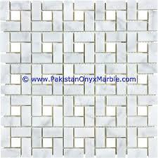 marble mosaic tiles ziarat carrara white polished