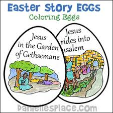 Easter Story Eggs Coloring Book From Daniellesplace