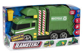 Kids Children Teamsterz Light And Sound Garbage Truck Toy Gift