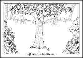 Free Printable Colouring Pages Of Adam And Eve In The Garden Paradise Eden Including Serpent Tree Knowledge