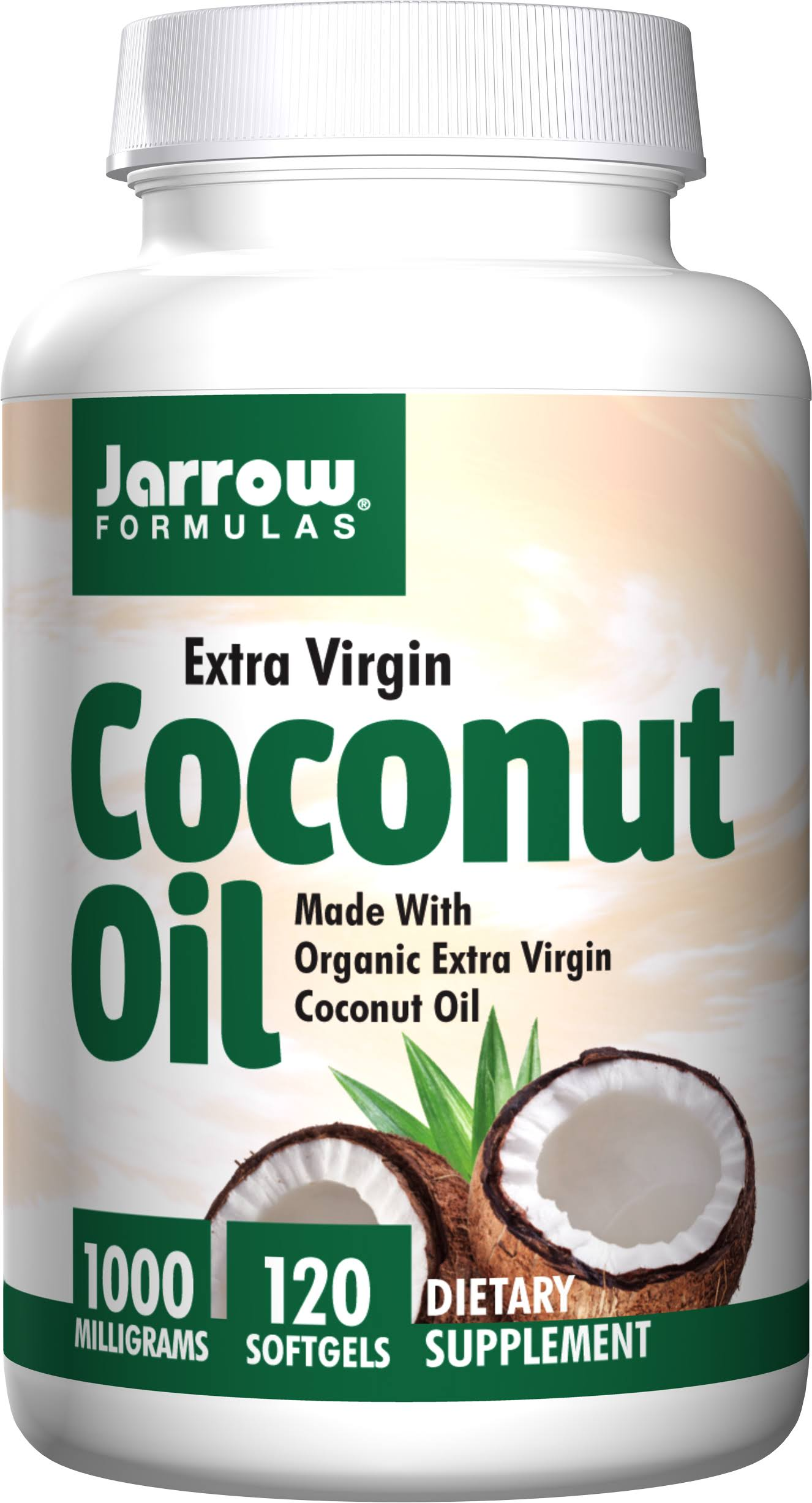 Jarrow Formulas Extra Virgin Coconut - 1000mg, 120 Softgels