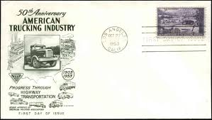 100 Fleetwood Trucking US FDC 1025 Cachet Los Angeles CA HipStamp