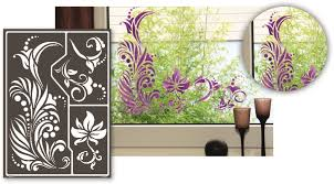 window style schablonen fenster designschablonen wandschablonen