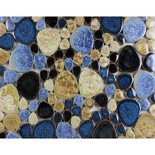 porcelain pebble mosaic tiles designs ceramic tile walls kitchen