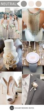 Elegant Silver And Ivory Neutral Wedding Colors For 2018 Trends