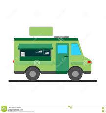 100 Green Food Truck Street Illustration Stock Vector Illustration