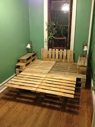 Pallet Bed Frame by Wood Pallet Bed Frame With Lights Teak Wood Stained Dresser Wood