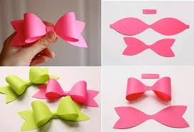 Make Paper Craft Bow Tie Step Diy Tutorial Instructions